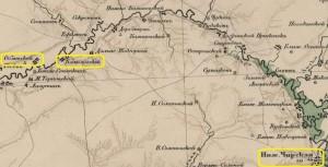 Фрагмент карты Второго Донского Округа 1915-го года.
