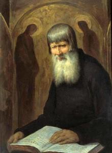 М.П. Боткин. Старовер. 1877 год. Дерево, масло. Третьяковская галерея, Москва.