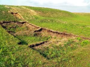 Археологический разведочный раскоп.