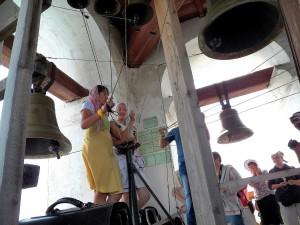 Звонари из р.п. Алексеевское. Слева - Ксения Плеханова- звонарь Храма Воскресения Христова в Алексеевском.