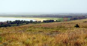 Вид на места боёв с Рычковских высот.