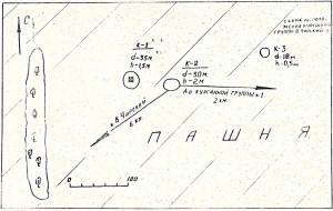 Ситуационный план западной группы могильников.