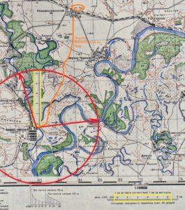 Пятикилометровый сектор от станицы Нижне Чирская в сторону станции Чир. Топографическая карта Генерального штаба Красной армии М 38-123 1941 года.